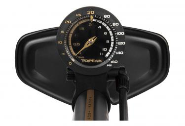 Topeak Joe Blow Tubi 2Stage Floor Pump (Max 160 psi / 11 bar) Black / Gold