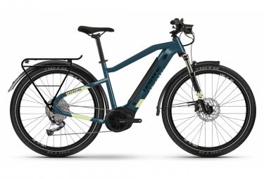 Eléctrico VTC Haibike Trekking 5 i500Wh Shimano Alivio M3100 9V Azul / Amarillo Canario 2021