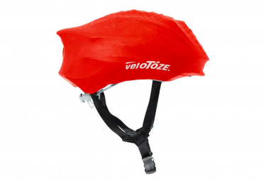Image of Couvre casque velotoze helmet cover rouge