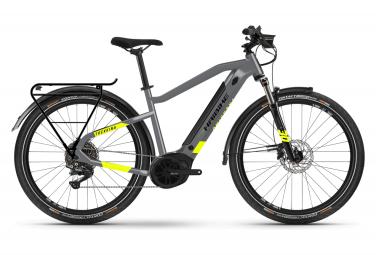 Eléctrica VTC Haibike Trekking 6 i500Wh Shimano Deore 10V Gris / Mate Amarillo 2021