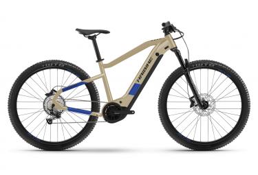 Haibike HardNine 7 250 Wh 29' Elektrisches Hardtail MTB Shimano Deore 12V Kaffee Beige / Blau 2021