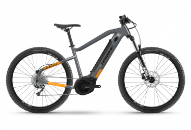 VTT Electrique Semi-Rigide Haibike HardSeven 4 27.5'' 400 Wh Shimano Alivio M3100 9V Gris / Orange Lava 2021