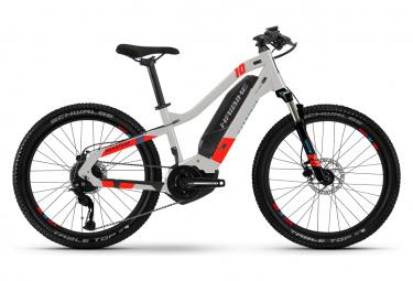 Haibike HardFour 2 24 '' Shimano Altus 9V Electric Kid MTB Grigio / Rosso 2021