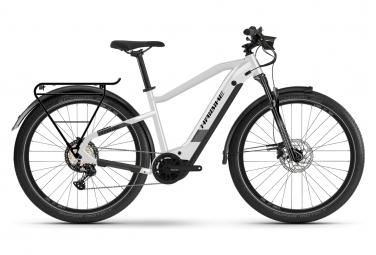 Vélo de Ville Électrique Haibike Trekking 8 Shimano Deore 12V 630 Blanc / Noir 2021