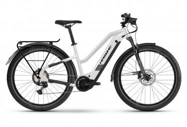 Bicicleta Híbrida Eléctrica Haibike Trekking 8 Trapez 27.5'' Blanc / Noir