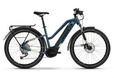 Vélo de Ville Électrique Femme Haibike Trekking 5 Trapez Shimano Alivio M3100 9V 500 Bleu / Jaune 2021