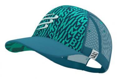 Casquette Compressport Trucker Born to Swim-Bike-Run 2021 Bleu Unisex