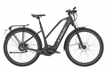 Bici elettrica da città Trek Allant + 9S Stagger Enviolo Trekking 625 Wh 650b nero opaco 2021