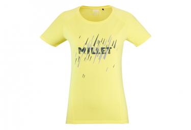 Camiseta Millet Ltk Fast Amarillo Mujer L