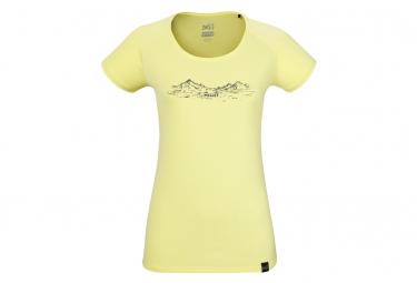 Camiseta Millet Hazy Mtn Amarilla Mujer L