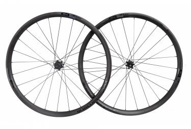 Juego de ruedas de carbono deda sl30db   12x100   12x142 mm   centerlock shimano   sram sram