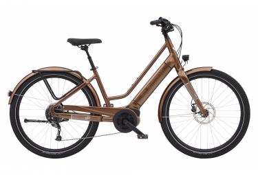 ¡Electra Vale, bicicleta urbana eléctrica! 9D EQ Shimano Alivio 9V 500 Wh 27,5' Marrón Caoba Metálico 2021