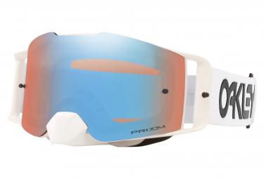 Oakley Front Line MX Werkspilot Weiße Brille / Prizm MX Sapphire Iridium / Ref. OO7087-50