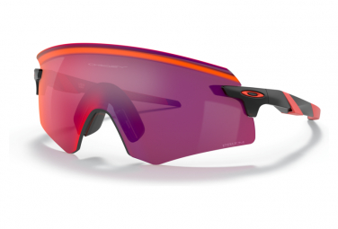 Occhiali da sole Oakley Encoder Nero opaco / Rosso PRIZM Road OO9471-0136