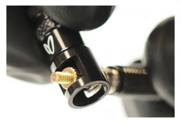 Paire de Valves Tubeless Effetto Mariposa Caffélatex Tubeless Valve Presta 40 mm avec Bouchons Démonte-Obus Noir