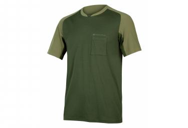 Camiseta Endura Gv500 Foyle Verde Oliva Xl
