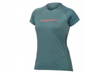 Endura SingleTrack Kurzarm Jersey Green Women