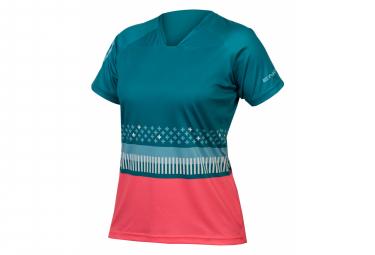 Endura SingleTrack Kurzarm T-Shirt Grüne Frauen