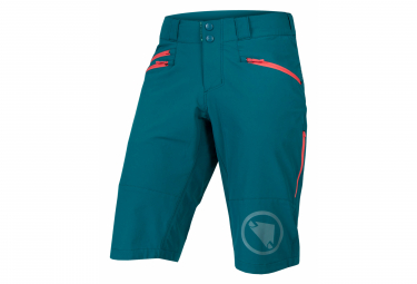 Pantalones cortos Endura SingleTrack II verde mujer
