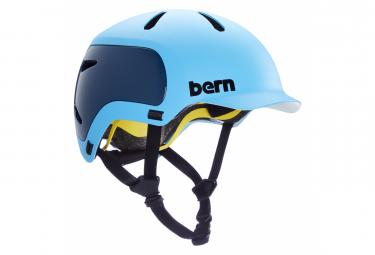 Casco Bern Watts 2 0 Azul Oceano Mate L  59 62 Cm