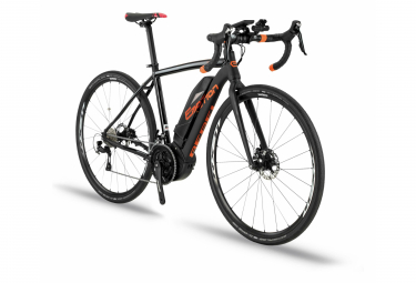 BH Rebel GravelX Elektro-Schotterrad Shimano 105 11S 500 Wh 700 mm Schwarz / Orange 2020
