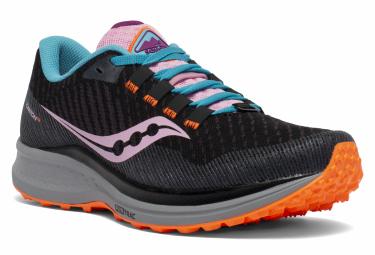 Chaussures de Trail Femme Saucony Canyon TR Black Future Noir / Multi-couleur