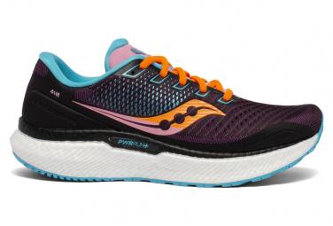 Chaussures de Running Femme Saucony Triumph 18 Black Future Noir / Multi-couleur