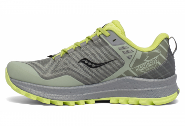 Chaussures de Trail Femme Saucony Xodus 11 Gris / Jaune