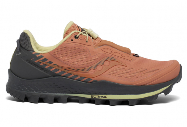 Saucony Peregrine 11 ST Schuhe Corail Yellow Women
