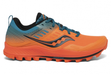 Saucony Peregrine 10 ST Trail Schuhe Orange Blue Men