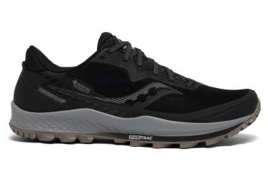 Saucony Peregrine 11 Gtx Negro Gris Hombres Zapatos 48