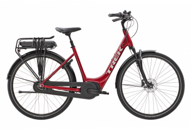 Bicicleta Ciudad Mujer Trek District+ 4 Lowstep Rouge / Argent