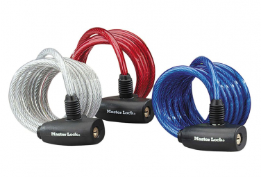 Image of Master lock cable antivol 3 pcs acier 1 8 m x 8 mm 8127eurtri