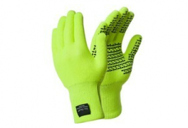 Image of Gants dexshell touchfit jaune haute visibilite