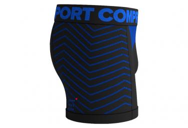 Boxer Compressport Seamless Noir / Bleu