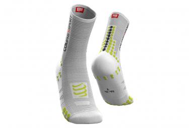 Compressport Pro Racing v3.0 Bike Socks White / Yellow