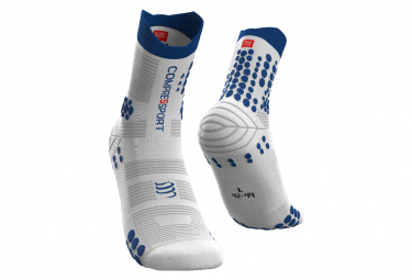 Calcetines Compressport Pro Racing V3 0 Trail Blanco   Azul 35 38
