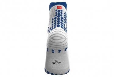 Chaussettes Compressport Pro Racing v3.0 Trail Blanc / Bleu