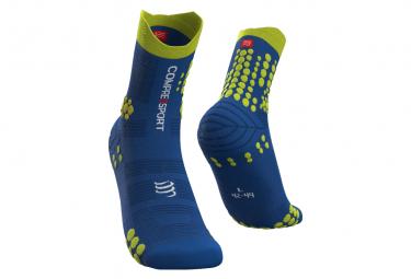 Chaussettes Compressport Pro Racing v3.0 Trail Bleu / Jaune