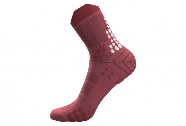 Chaussettes Compressport Pro Racing v3.0 Trail Rose