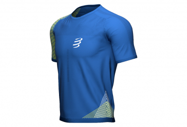 Maillot Manches Courtes Compressport Performance Bleu