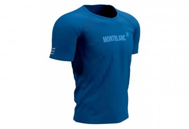 Compressport Training Mont Blanc 2021 Maglia Manica Corta Blu