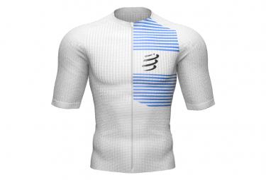 Compressport Tri Postural Short Sleeve Jersey White / Blue