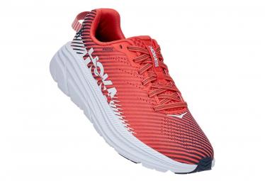 Zapatillas Mujer Hoka Rincon 2 Hot Coral   Blanco   Rojo   Blanco 42 2 3