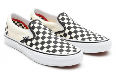 Vans Slip-On (Checkerboard) Skate Shoes Black / off