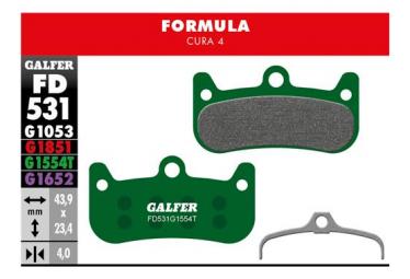 Paar Galfer Semi-Metallic Formula Cura 4 Pro Bremsbeläge