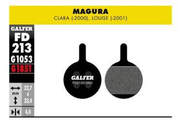 Paar Galfer Semimetallic Magura Clara (-2000) Louise (-2001) Standardbremsbeläge