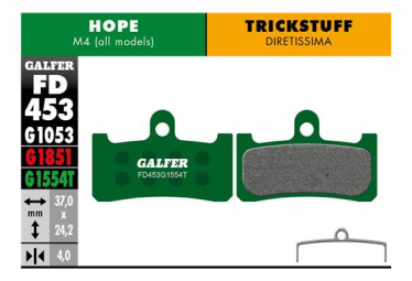 Paar Galfer Semi-Metallic Pads Hope M4 / Trickstuff Diretissima Pro