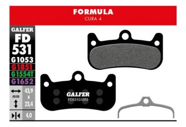 Coppia di pastiglie freno Galfer Semi-metalliche Formula Cura 4 Standard