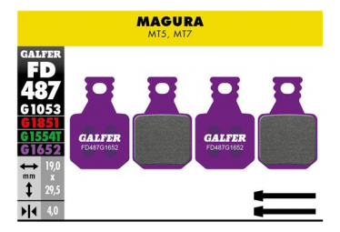Paar Galfer Semimetallic Magura MT5 / MT7 E-BIKE Pads